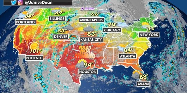 National forecast on Friday, September 3, 2021.