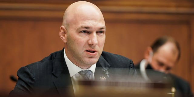 U.S. Rep. Anthony Gonzalez (R-OH) is seen during a House Financial Services Committee oversight hearing to discuss the Treasury Department's and Federal Reserve's response to the coronavirus (COVID-19) pandemic on December 02, 2020 in Washington, DC.