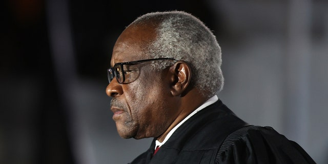 Supreme Court Associate Justice Clarence Thomas is seen on the South Lawn of the White House, Oct. 26, 2020. (Getty Images)