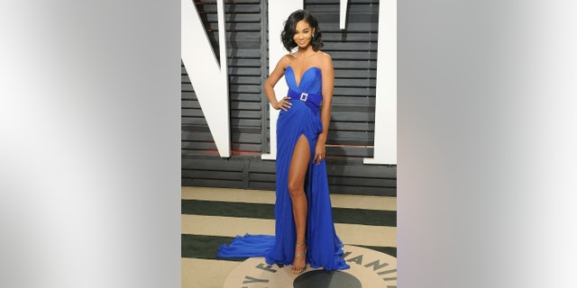Model Chanel Iman arrives at the 2017 Vanity Fair Oscar Party hosted by Graydon Carter at the Wallis Annenberg Center for the Performing Arts on February 26, 2017 in Beverly Hills, California.,