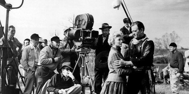 Constance Towers being directed by John Ford