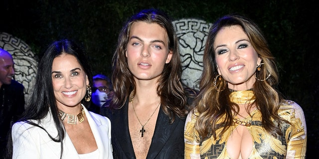 Elizabeth Hurley and Damian Charles Hurley joined Demi Moore for the festivities.
