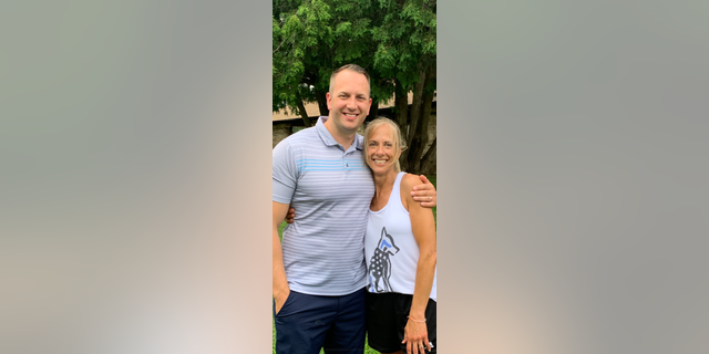 Greg Vossler (left) and Melanie Pressley (right) met in person in June 2021. The pair had corresponded online for a short time in May before they saw and heard each other for the first time.