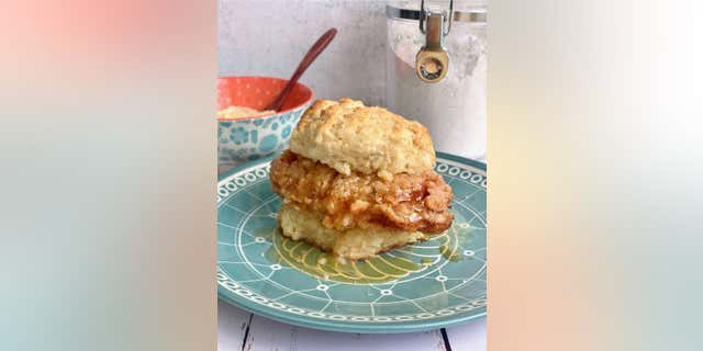 """Southern food blogger Debi Morgan of Quiche My Gritsshared her """"Honey Butter Chicken Biscuits"""" recipewith FOX News."""