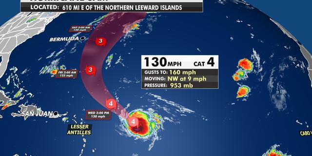 Hurricane Sam over the Atlantic