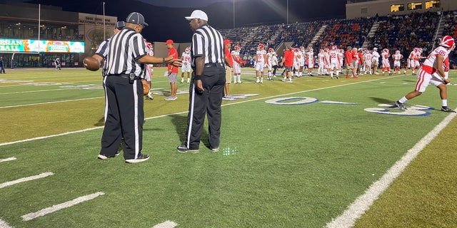 Las Vegas schools are facing a referee shortage. A typical high school football season would have around 300 공무원, but this year, they have 177. (Ashley Soriano/Fox News)