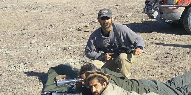 Lt. Col. Perry Blackburn in Afghanistan in 2001
