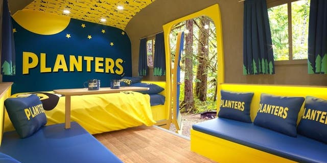 The NUTmobile's interior will have branded decor that shows off Planters' logo, colors and Mr. Peanut mascot.