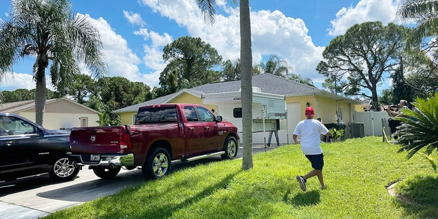 Two FBI agents have entered the North Port home of Brian Laundrie
