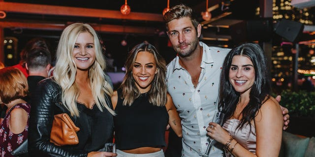 Jana Kramer, Jay Cutler and guests attend the opening of The Twelve Thirty Club rooftop in Nashville.