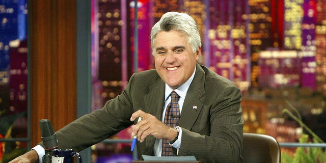 Jay Leno appears on 'The Tonight Show' on July 7, 2004 at the NBC Studios in Burbank, California. The comedian recently opened up about how cancel culture has changed the comedy field.