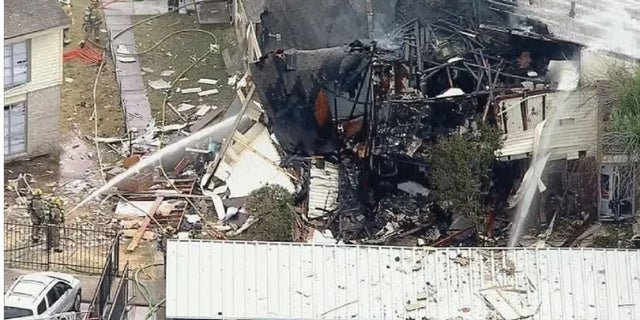 Several Dallas firefighters and some residents were hurt Wednesday during an explosion.