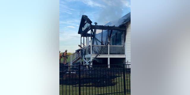 A neighbor notified Sean Matthews and Kellie Stanley about their porch fire through their Ring doorbell.