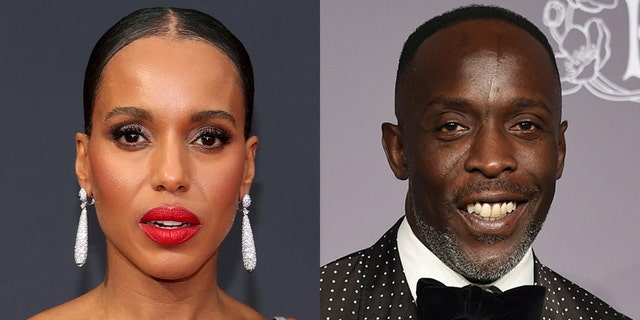 Actress Kerry Washington lamented the death of Michael K. Williams at the 2021 에미상.