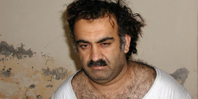 Khalid Shaikh Mohammed, the alleged Sept. 11 mastermind, is seen shortly after his capture during a raid in Pakistan Saturday March 1, 2003 in this photo obtained by the Associated Press. (AP Photo)