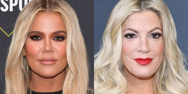 Fans accused the '90210' actress of having plastic surgery after she drew comparisons to the 'KUWTK' star.