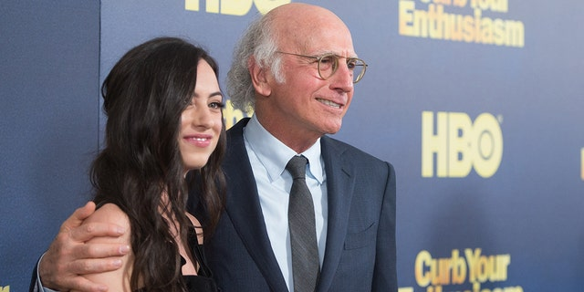"""Cazzie David and Larry David attend the """"Curb Your Enthusiasm"""" season 9 premiere at SVA Theater on September 27, 2017 in New York City."""