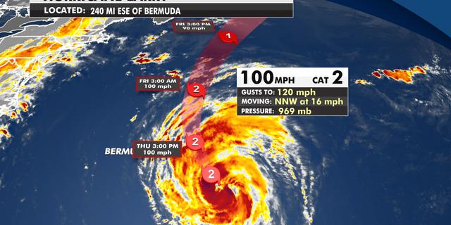 Hurricane Larry moves near Bermuda