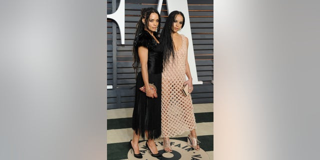 Actresses Lisa Bonet and Zoe Kravitz attend the Vanity Fair Oscar Party hosted by Graydon Carter at Wallis Annenberg Center for the Performing Arts on February 22, 2015 in Beverly Hills, California.