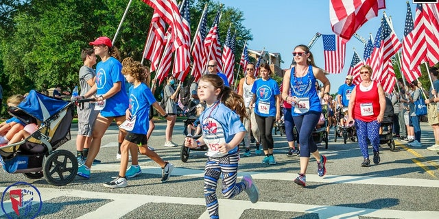 9/11 Heroes Run 5K race in Charleston, South Carolina on Sept. 11, 2021.