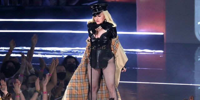 Madonna performs onstage during the 2021 MTV Video Music Awards at Barclays Center on September 12, 2021 in the Brooklyn borough of New York City.