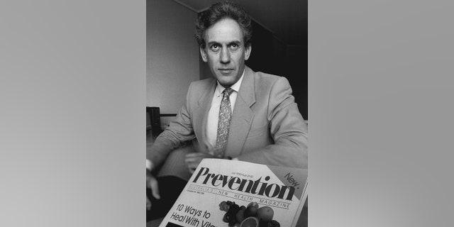 FILE -- June 25, 1985: Mark Bricklin, editor in chief of Prevention Magazine (Photo by Paul Matthews/Fairfax Media via Getty Images).