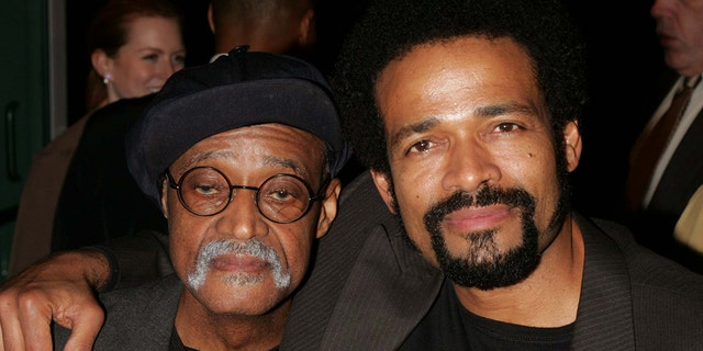 Melvin Van Peebles and son Mario Van Peebles are seen during the 14th Annual Gotham Awards in New York City, New York.