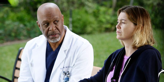 Ellen Pompeo and James Pickens Jr. in 'Grey's Anatomy' season 12 episode nine, 'The Sound of Silence', directed by Denzel Washington.