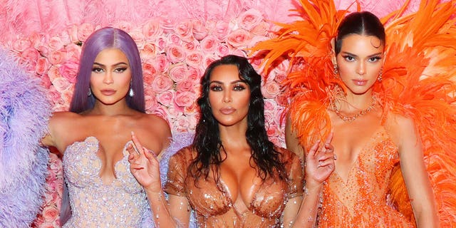 Kylie Jenner, Kim Kardashian West, and Kendall Jenner attend The 2019 Met Gala Celebrating Camp: Notes on Fashion at Metropolitan Museum of Art on May 06, 2019 in New York City.