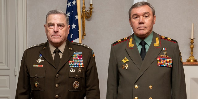 Chairman of the Joint Chiefs of Staff Gen. Mark Milley met with Chief of Russian General Staff Gen. Valery Gerasimov, Wednesday, Sept. 22 in Helsinki, Finland. (Photo: Department of Defense)