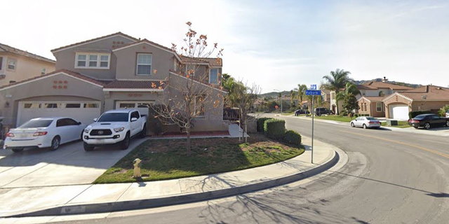 The Moreno Valley neighborhood, near Hastings Drive and Greenlawn Avenue, where Sunday's robbery occurred.