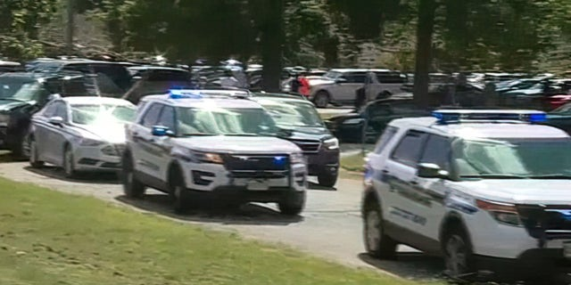 Police respond to a shooting at Heritage High School in Newport News, Virginia