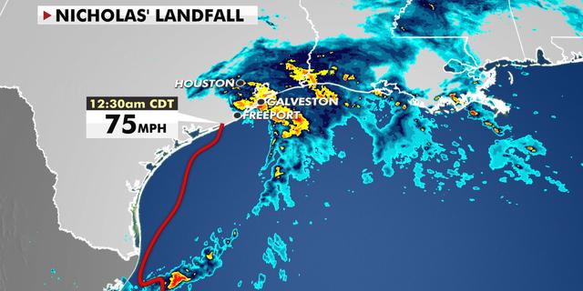 Hurricane Nicholas makes landfall