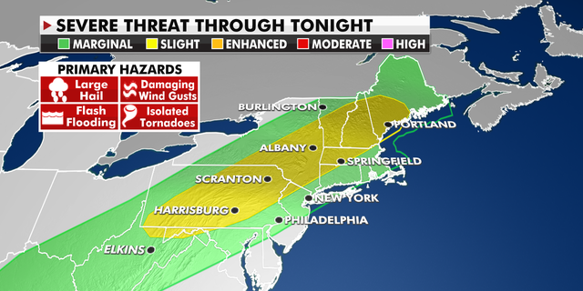 Severe weather threats in the Northeast