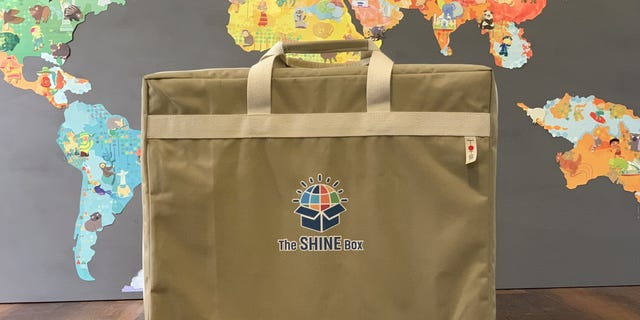 The 4-inch x 24-inch x 18-inch SHINE Box classroom requires no tools to put together and all materials are sustainable.