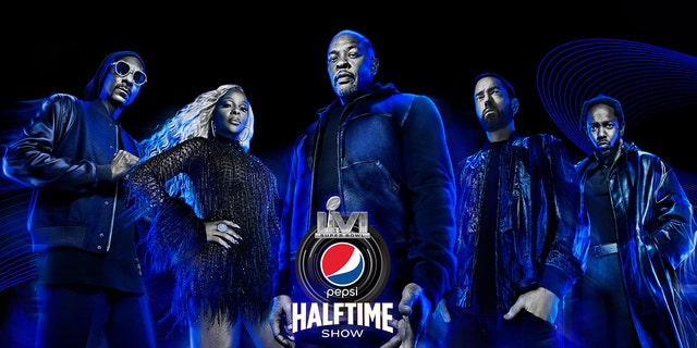 The Pepsi Super Bowl LVI halftime show will feature performances by Dr. Dre, Snoop Dogg, Eminem, Mary J. Blige and Kendrick Lamar.