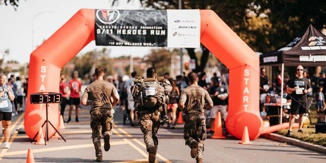 9/11 Heroes Run 5K race in Philadelphia, Pennsylvania on Sept. 12, 2021.