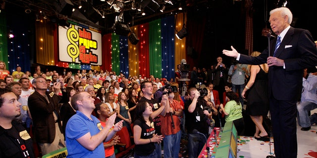 """Game show host Bob Barker, 83, receives a standing ovation as he tapes his final episode of """"The Price Is Right"""" in Los Angeles on June 6, 2007.  The longest-running game show in television history is celebrating it's 50th season."""