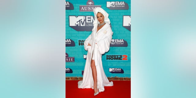 Rita Ora attends the MTV EMAs held at The SSE Arena, Wembley on November 12, 2017 in London, England.