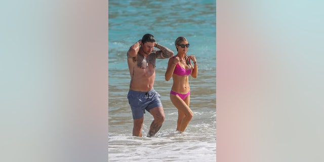 Christina Haack and fiancé Josh Hall soaked up some sun together in Mexico.