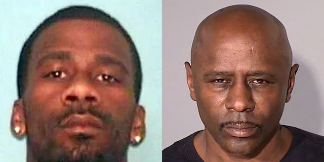 Linked to the Wisconsin SUV murders are Antoine Suggs, 37, and Darren McWright (aka Darren Osborne), 56, authorities say. (Dunn County Sheriff's Office/Ramsey County Sheriff's Office)