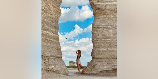 Petito in Kansas at Monument Rocks