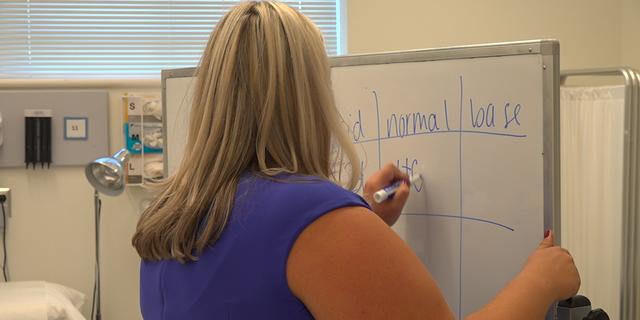 A nursing educator at the Notre Dame of Maryland University. (Jayla Whitfield/Fox News)