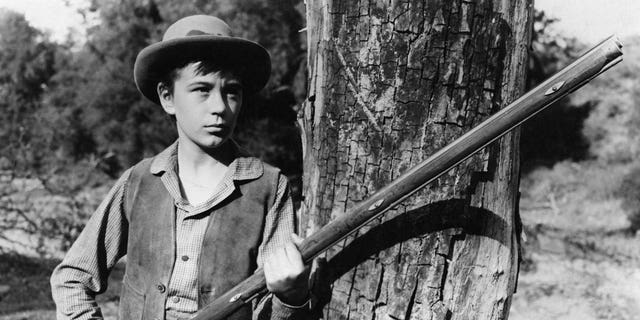 American child actor Tommy Kirk as Travis Coates in the film 'Old Yeller', 1957.