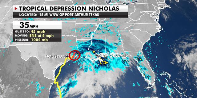 Tropical Depression Nicholas