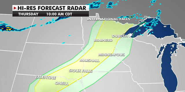 Forecast radar for the upper Midwest