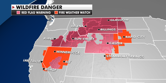 Wildfire danger for the western U.S.