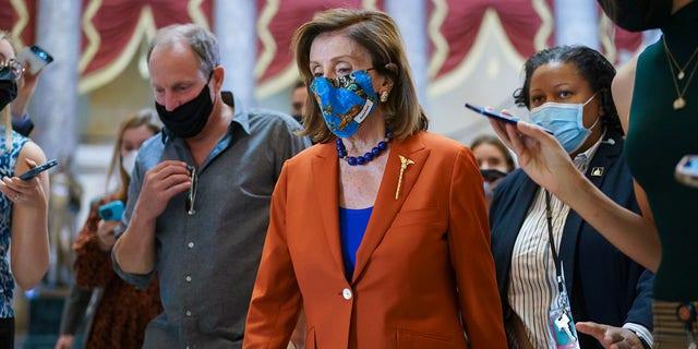 House Speaker Nancy Pelosi seen with actor Woody Harrelson in Washington D.C.