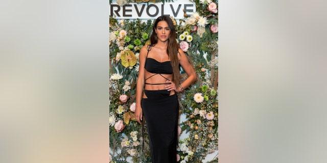 Amelia Hamlin attends the Revolve Gallery at Hudson Yards on September 9, 2021 in New York City.