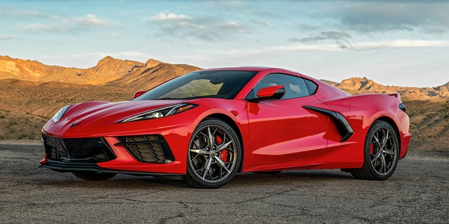 The Corvette Stingray has a different front end and side air intakes.